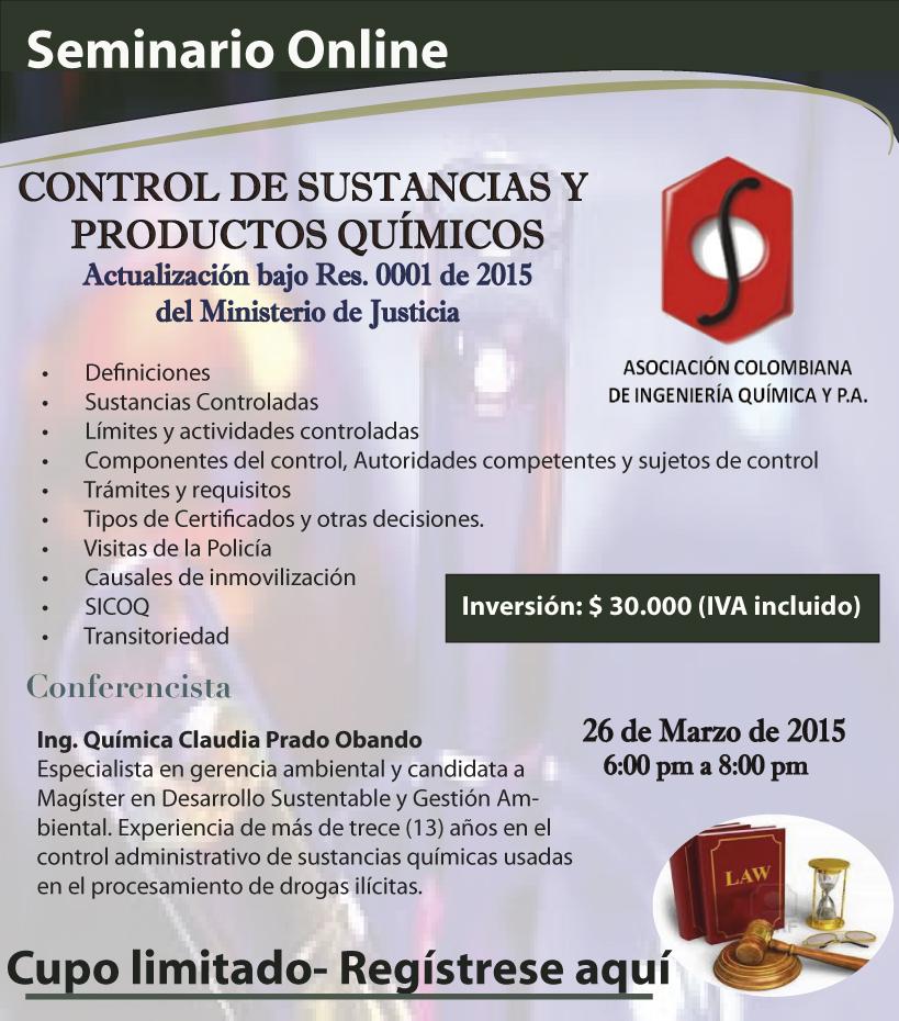 Seminario Virtual: Control de Sustancias y Productos Qu�micos