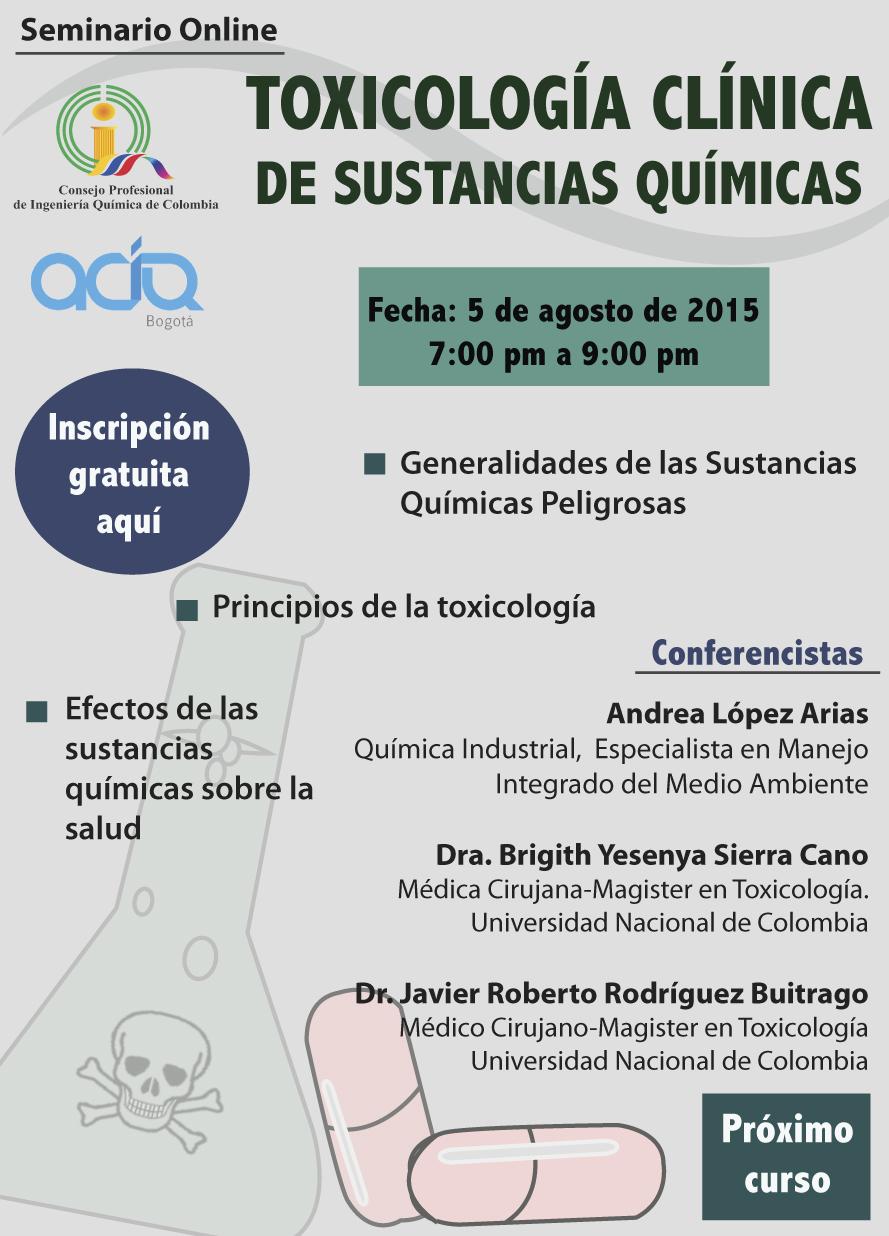Seminario Online: Toxicolog�a Cl�nica de Sustancias Cl�nicas